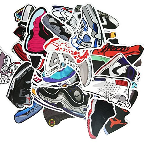 [Pack of 100] Sneaker Stickers - Car, Laptop, Luggage, Skateboard (Nike Stickers)