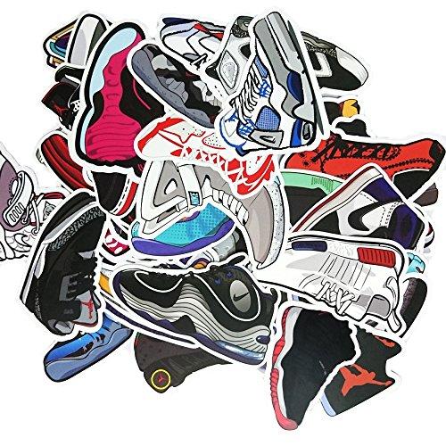 [Pack of 100] Sneaker Stickers - Car, Laptop, Luggage, Skateboard Graffiti by TownStix