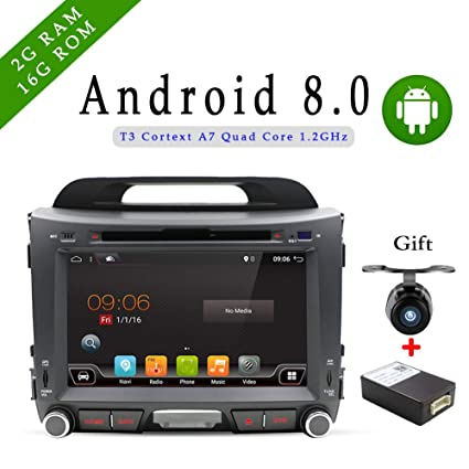 Android 8.0 car Stereo auto Double Din GPS Navigation HeadUnit Auto DVD Player Multimedia Backup Reverse