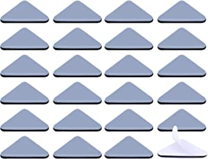 Ezprotekt 24PCS Self-Stick Furniture Sliders for Carpet, 45×45×60mm Self Adhesive Teflon Furniture Mover Glides, Triangle Furniture Moving Pads Furniture Glider Carpet Slider Floor Sliders