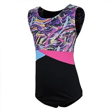 Sparkly One Piece Sleeveless Dance Tank Biketards 5-12 Years ChYoung Girls Gymnastics Leotards with Shorts