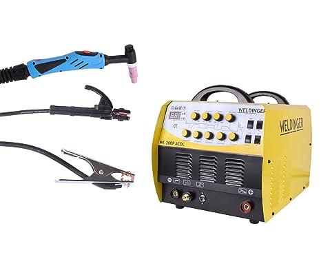 Turbo WELDINGER WIG-Schweißgerät WE 200P AC/DC - Inverter HF-Zündung zum DY11