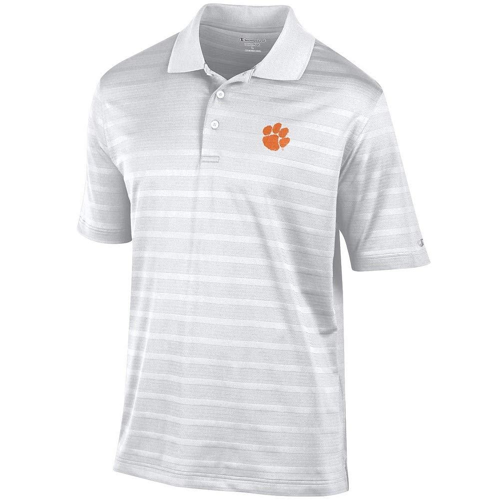 Elite Fan Shop Clemson Tigers Polo Shirt White - M