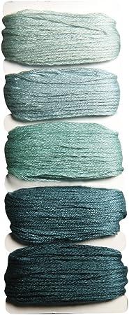 Rayher 53564407 de algodón Hilo Stitch & Knot, 5 Colores por 10 m ...