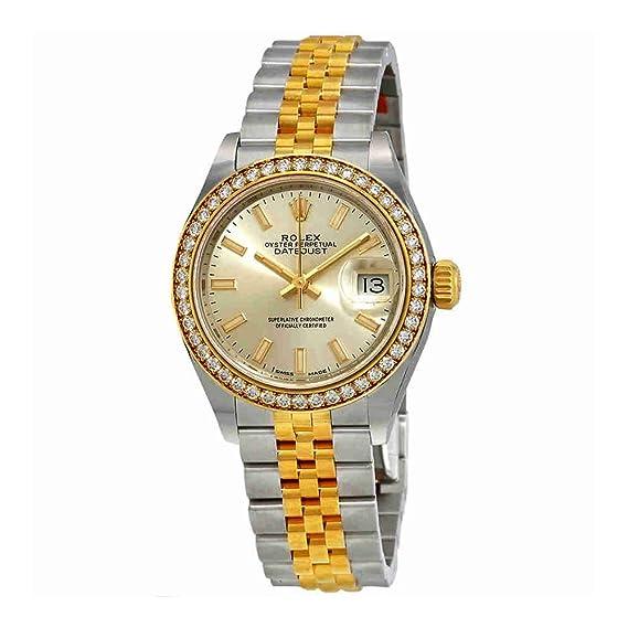 Rolex 279383SSJ- Reloj de pulsera para mujer, acero y oro amarillo de 18 quilates