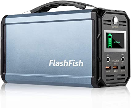 Drone Battery Recharged by Solar Panel//Wall Outlet//Car FlashFish 60000mAh Power Supply Station Camping Solar Generator 300W Portable Generator 110V AC Out//DC 12V //QC USB Ports for CPAP Camp Travel