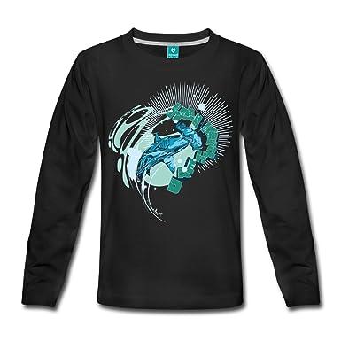 Spreadshirt Animal Planet Hammerhead Shark Kids' Premium Longsleeve Shirt,  110/116 (4