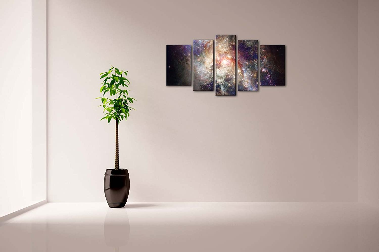Nice Amazon.com: 5 Panel Wall Art Star Field In Space And A Nebulae Painting The  Picture Print On Canvas Abstract Pictures For Home Decor Decoration Gift  Piece ...