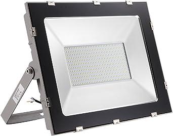 Yuanline Focos LED Exterior de Blanco Frío 300W 30000LM, 6000-6600k, Ultrafino y Ultraligero para Jardín, Garaje, Patio, Estadio, Fábrica, Almacén, Cuadrado Resistente al Agua IP65: Amazon.es: Iluminación