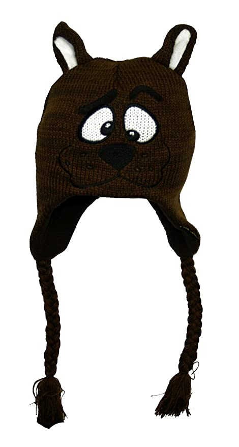 Amazon.com   Scooby Doo Head Fleece Lined Brown Knitted Laplander Hat   Cap    Other Products   Everything Else bffffb60d5a5