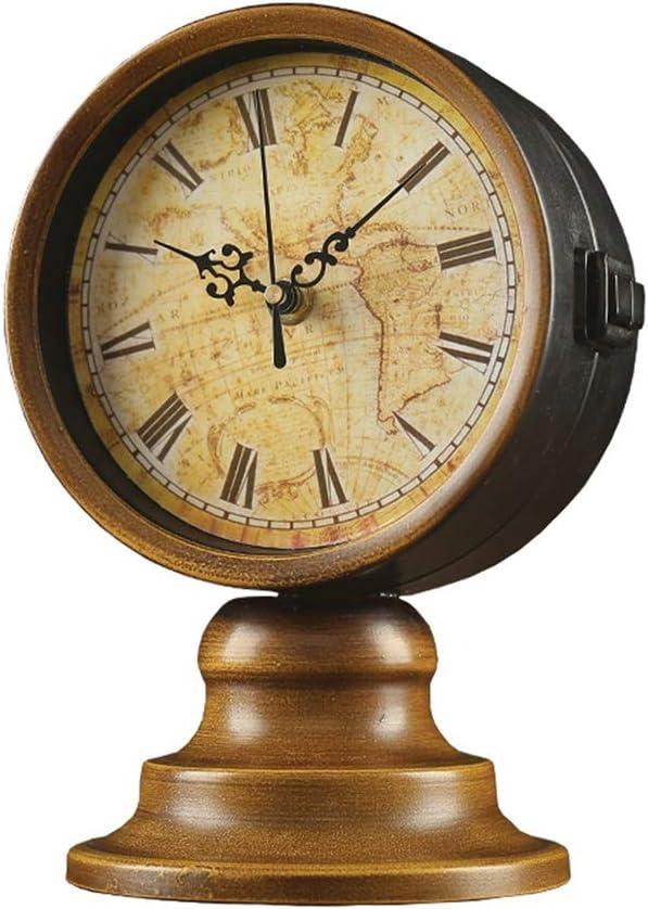 LGQ-JJU Retro Doppelseitige Uhr Tischuhr Im Europ/äischen Stil Vintage Silent Desk Clock Home Dekorative Uhr