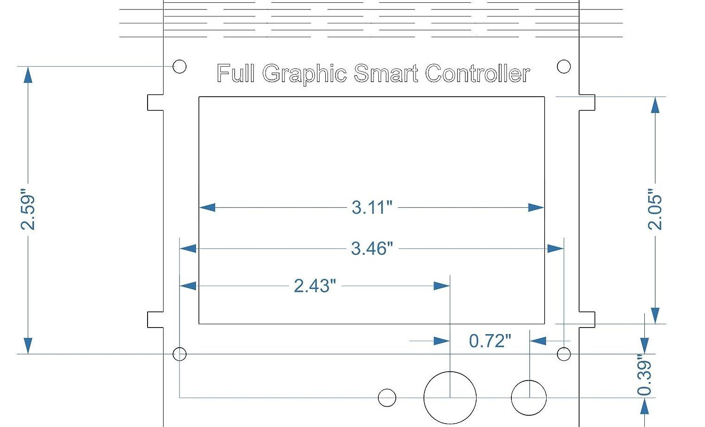 3D Printer Ultimaker//Prusa//Reprap PLYwood 12864 LCD Control Panel holder//box
