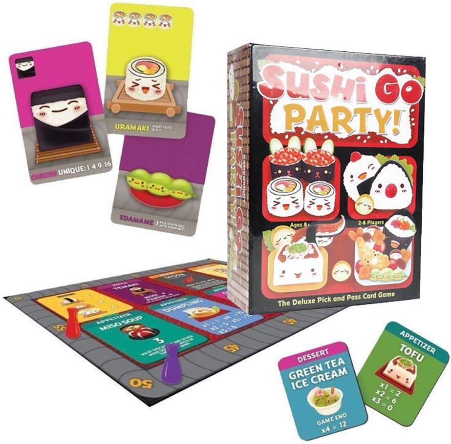 Outtybrave Sushi Go! Juego de Mesa de Fiesta – Juego de Mesa de Tarjeta de Familia de Fiesta, Papel, Big Box, Talla única: Amazon.es: Hogar