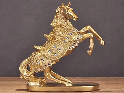 Amazon Com European Resin Horse Ornaments Home Accessories Living