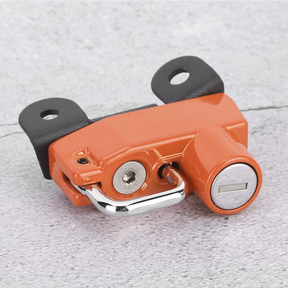 moto modificata gancio antifurto per elmetto adatto per Ducati Scrambler 400//800 modelli 2015 giallo Duokon Antifurto di sicurezza