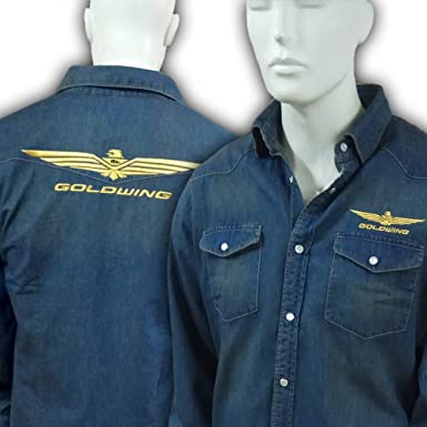 individual. Camisa Denim Bordada Goldwing Hombre: Amazon.es: Ropa y accesorios