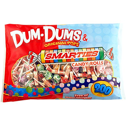 Dum-Dum Pops and Smarties 200 count bag]()