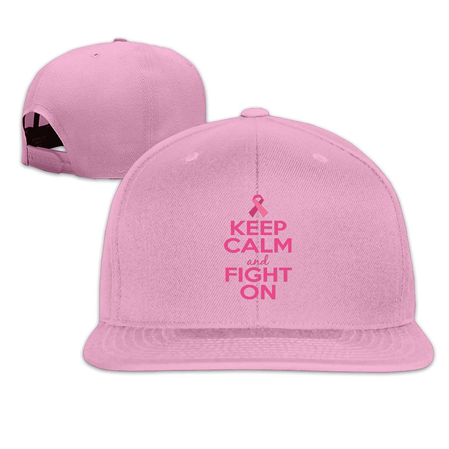 Keep Calm And Fight On Adjustable Cap Flat Bill Baseball Cap