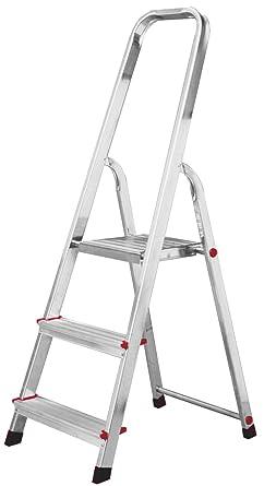 LASA712 Escalera de Tijera Simples, 3 Peldaños: Amazon.es: Industria, empresas y ciencia