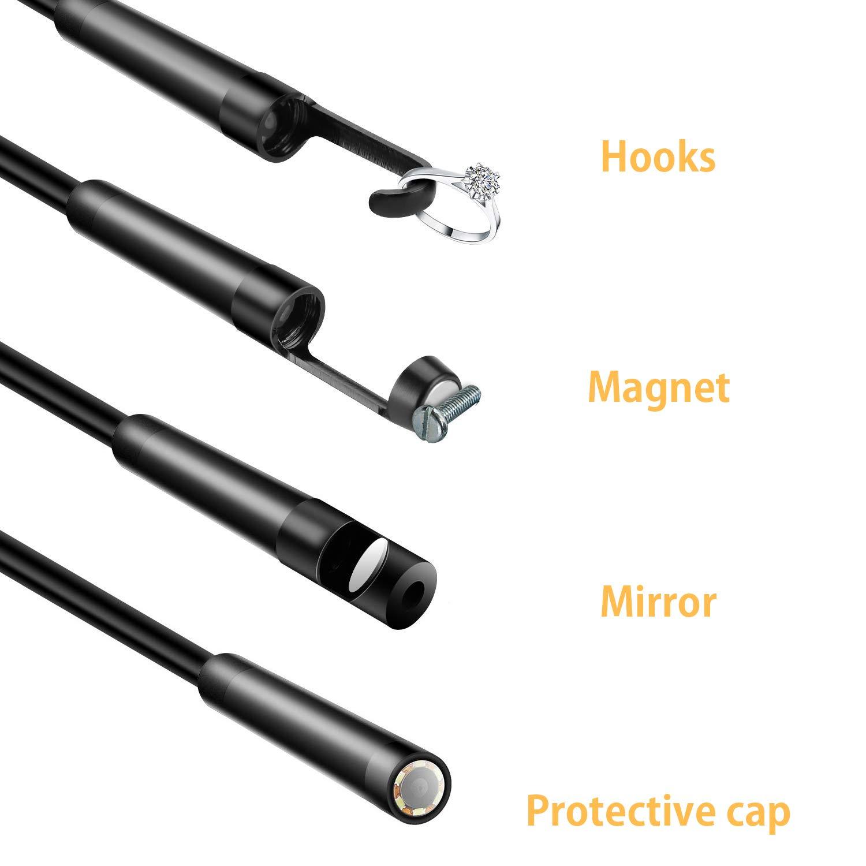 Inspektionskamera Videoskop-Werkzeugkiste Endoscope1 digitales Endoskop mit 6,4 cm LCD-Display Vitcoco Industrie-Endoskop 5 mm wasserdichte Schlangenkamera 3 MP Endoskop-Kamera