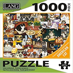 Lang Jigsaw Puzzle 1000 Pieces 29x20 American Cat