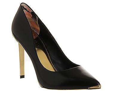 67c96bf7cf3 Ted Baker Elvena Heel Black Hi Shine Leather - 6 UK: Amazon.co.uk ...