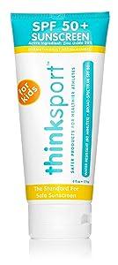 Thinksport Kids Safe Sunscreen SPF 50+ (6 ounce)
