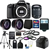 Cheap Canon EOS 80D 24.2MP Digital SLR Camera with 18-55mm Lens + 16GB Top Bundle