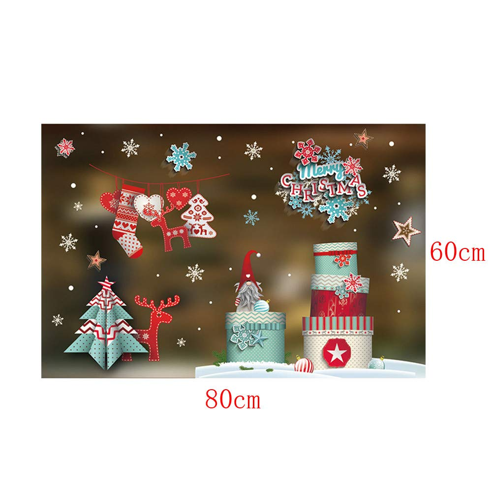 DIY pgojuni Christmas Creative Carving Can Remove Personality Wall Stickers Removable Wallpaper Home Decor 1PC (J) by Pgojuni_Wallpaper (Image #3)