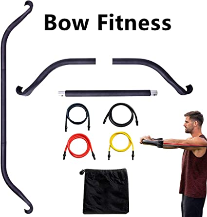 Fitness Home Gyms Resistance Workout Set,Weightlifting and Other Trainings Full Body Workout Equipment SHINYEVER Portable Fitness Bow