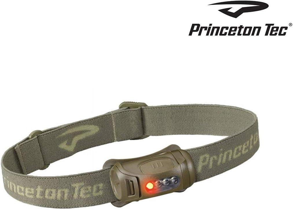 Taglia Unica Princeton Tec 4000578 Verde Oliva Fred-Lampada Frontale Color Uomo