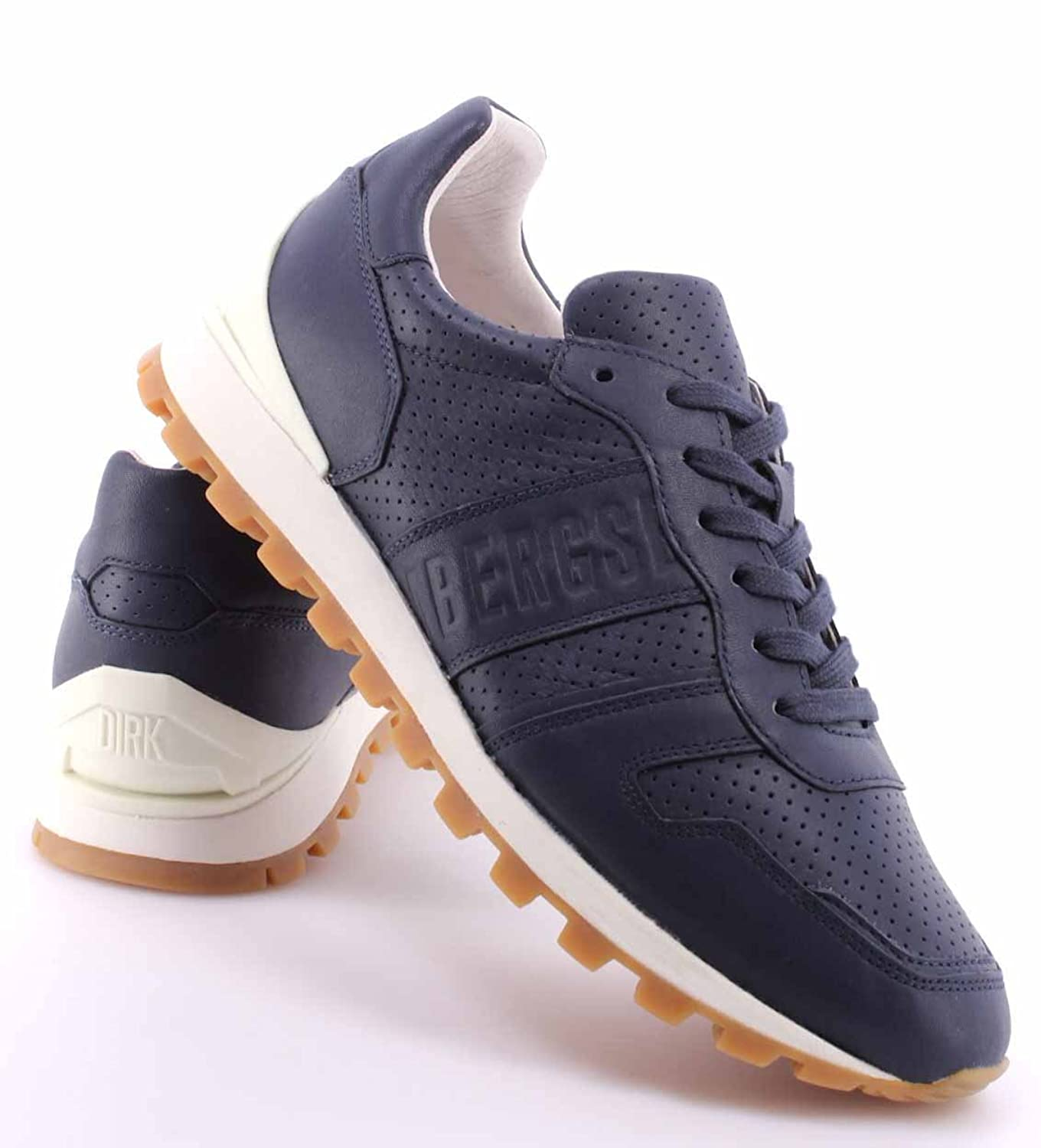 Zapatos Hombres Sneakers BIKKEMBERGS BKE108742 Numb Leather Blue Piel Azul Nuevo nAR7XAW