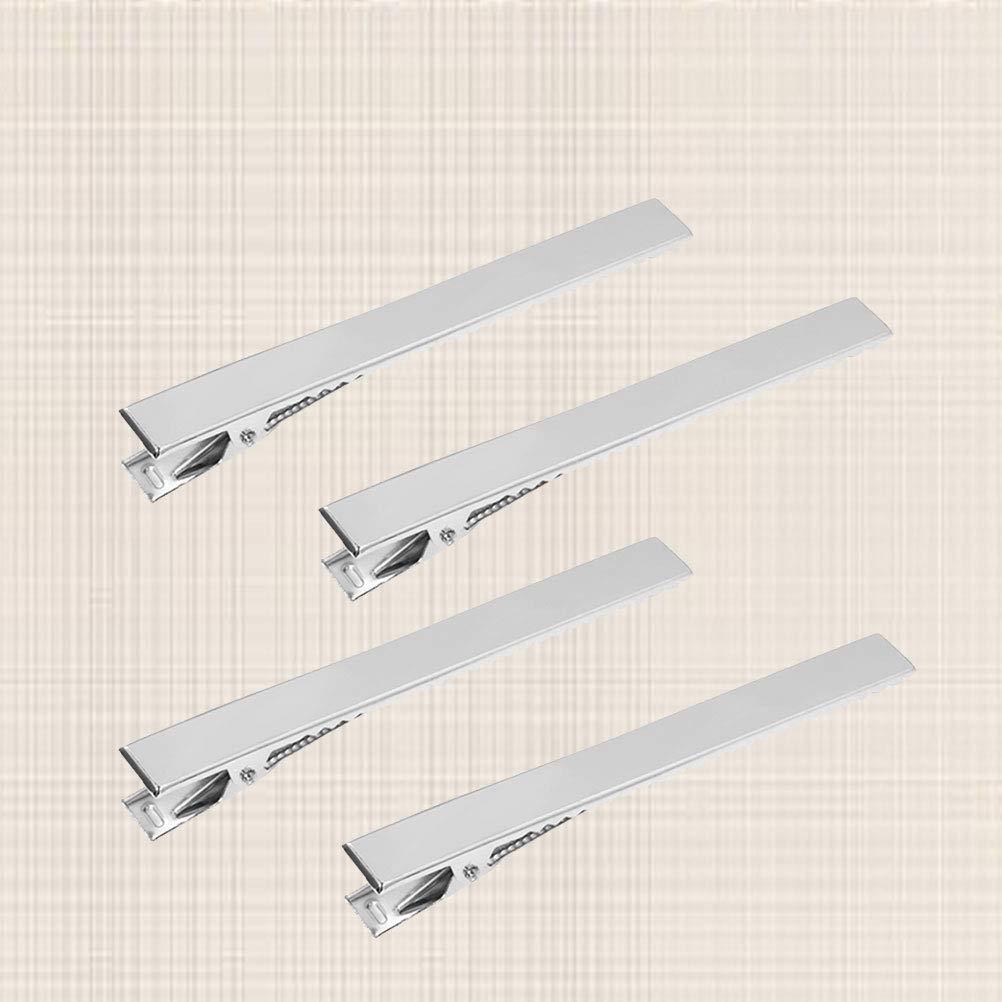 SUPVOX Pinzas para el cabello bricolaje Tono de plata Barrette en blanco pinza de pelo para manualidades de bricolaje joyer/ía del pelo que hace 20pcs