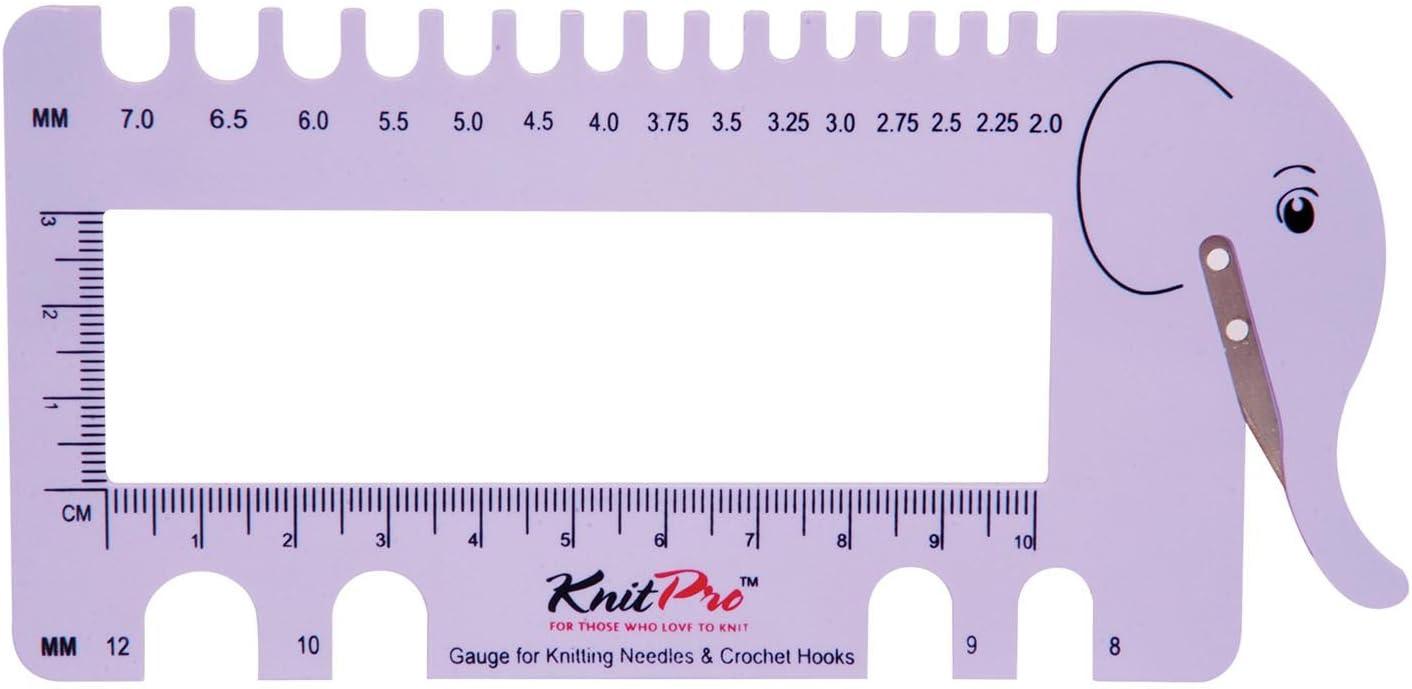 Rectangle KnitPro View Sizer Knitting Needle Gauge Red Ruler