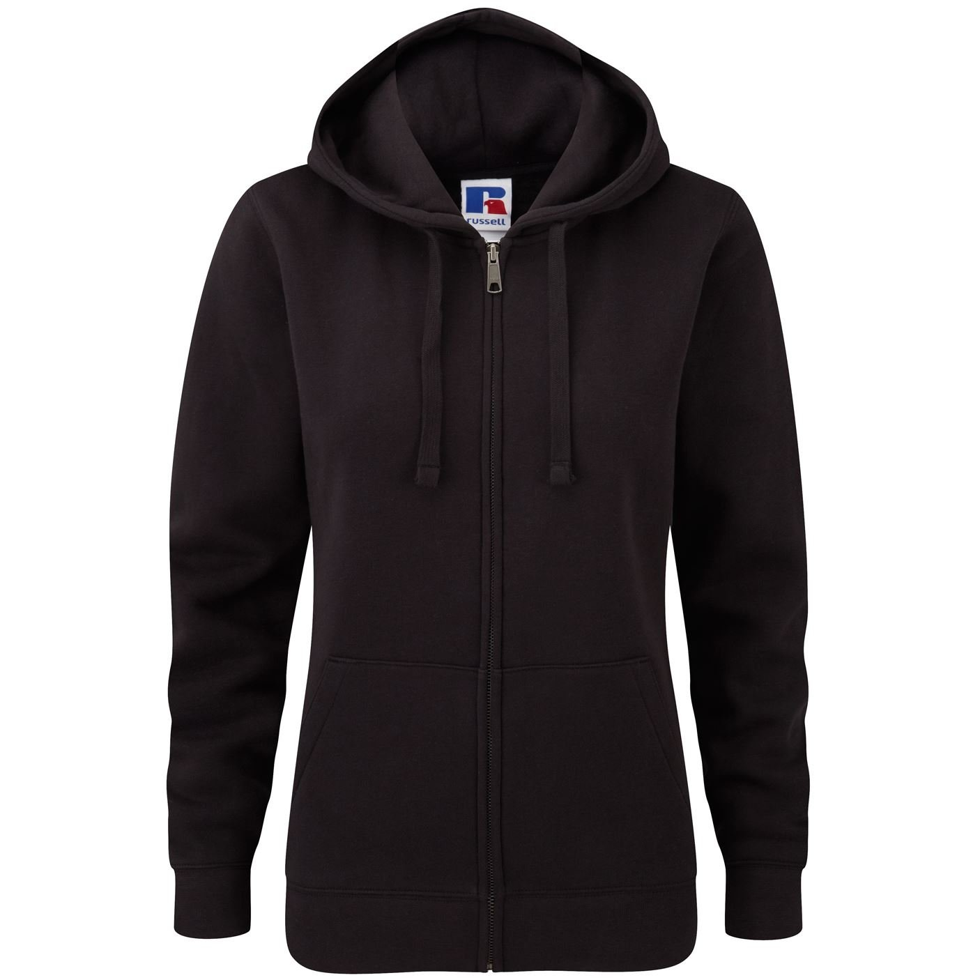 Russell-Women's authentic zipped hooded sweatshirt-