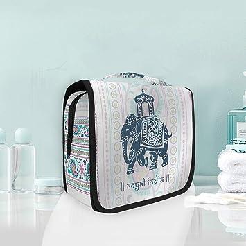 d9e6c33d56b8 Hippie Indian Elephant Mandala Large Hanging Toiletry Bag ...