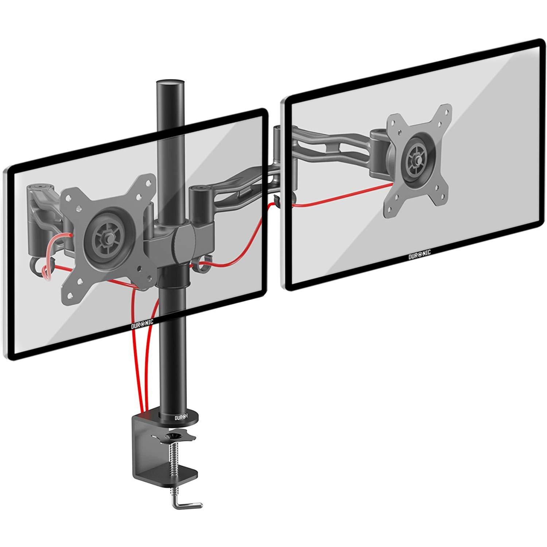 Duronic DM352 Support double 2 écrans PC pour bureau à pince - Potence et  bras en 1ba8b5da7b8d