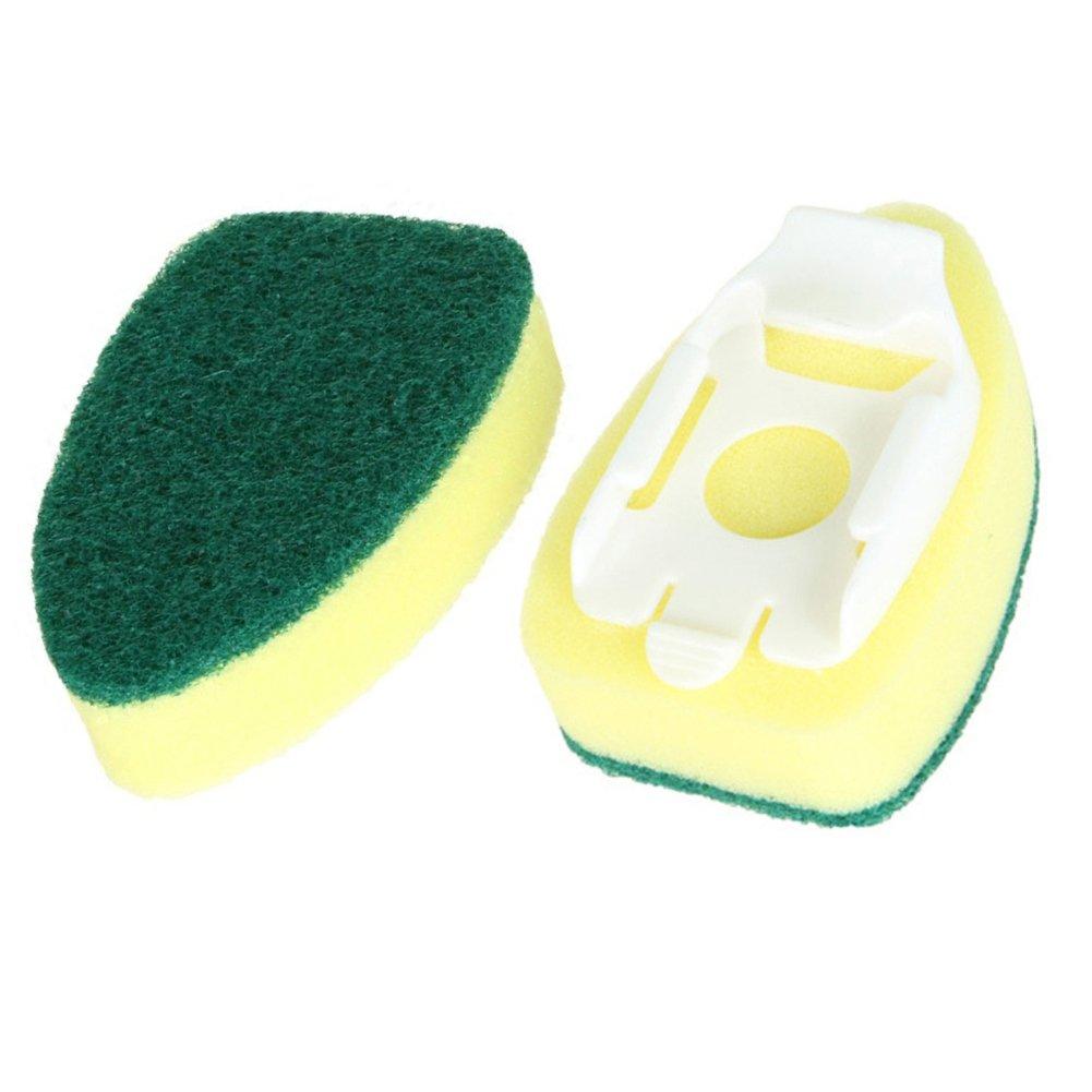 Bigmai Detachable handle Sponge Washer Brush Head Kitchen Cleaning Brush Replacement Head