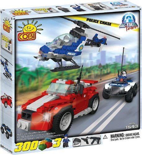 COBI Action Town Police Chase 300 Piece Building Block Set by COBI