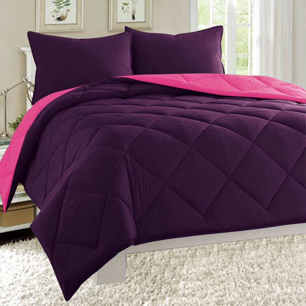 down yellow reversible brushed gray piece dayton sizes microfiber amazon alternative bed home set cover com dp soft purple all comforter quilted twin