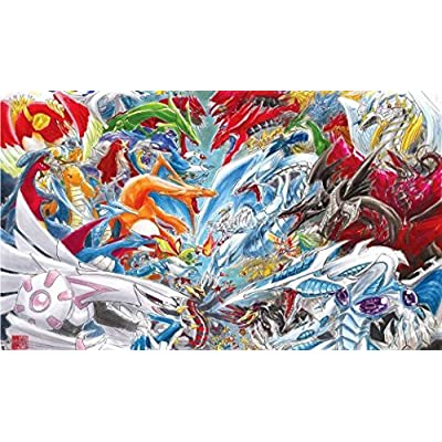 HiddenSupplies.com Pokemon Vs Yugioh Official Mat by Christine Aka Slifertheskydragon Playmat: Toys & Games