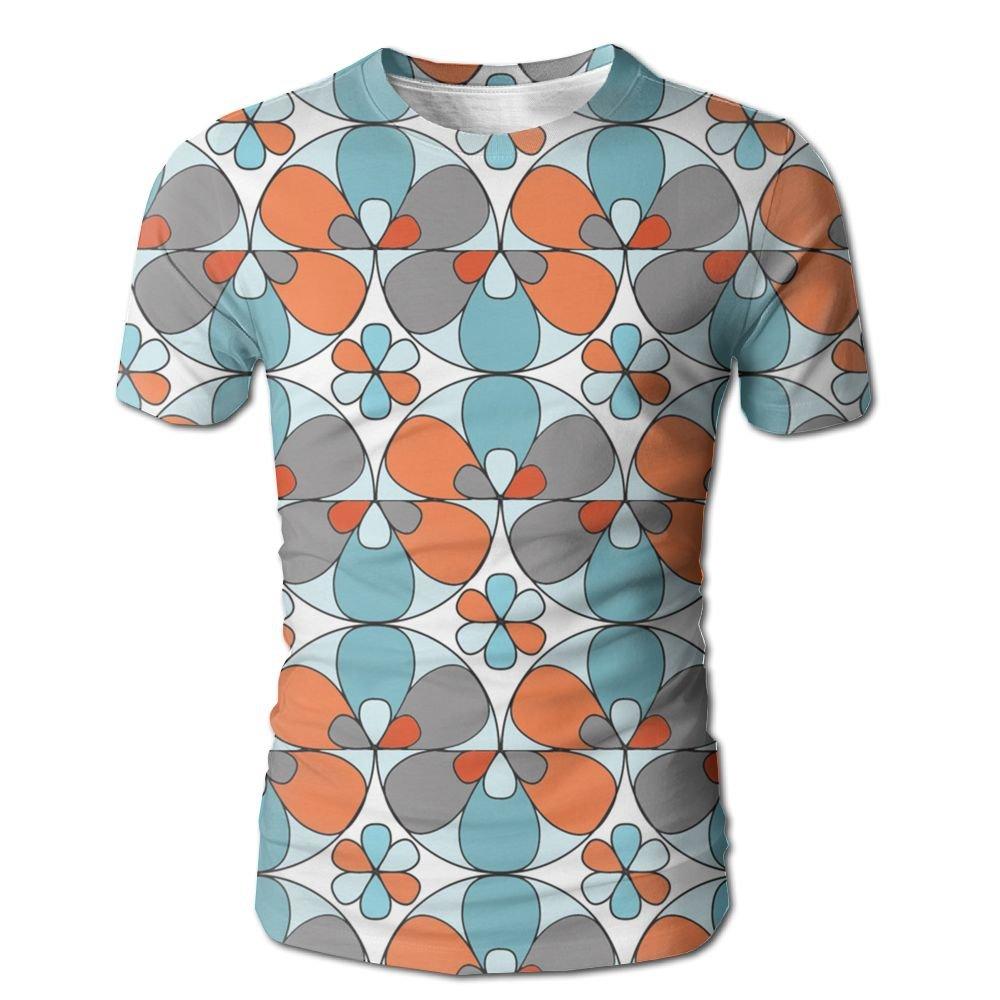 YOIGNG Hawaiian 3D Printed Geometric Flowers T-Shirt Short Sleeve Crewneck Tee Pullover Casual Tops