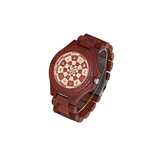 watch bracelet amexi brown color handmade dp watches zebra with calendar wooden men s