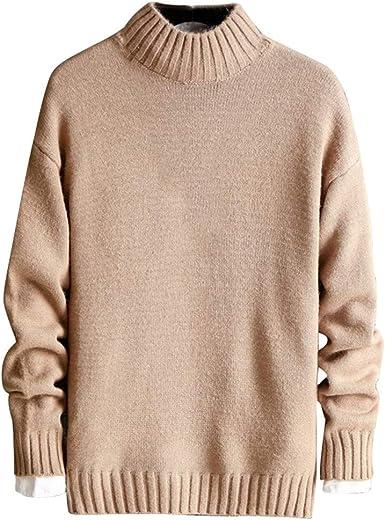 Jersey de Cuello Alto para Hombre, algodón Puro, Invierno ...