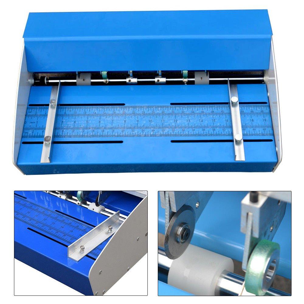 """Elektrische Nutmaschine Rillmaschine Rillgerät Perforating Falzmaschine 18/""""460mm"""