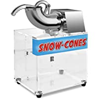 Costzon Electric Ice Shaver Machine Ice Crusher Snow Cone Maker, 264lbs 250W …