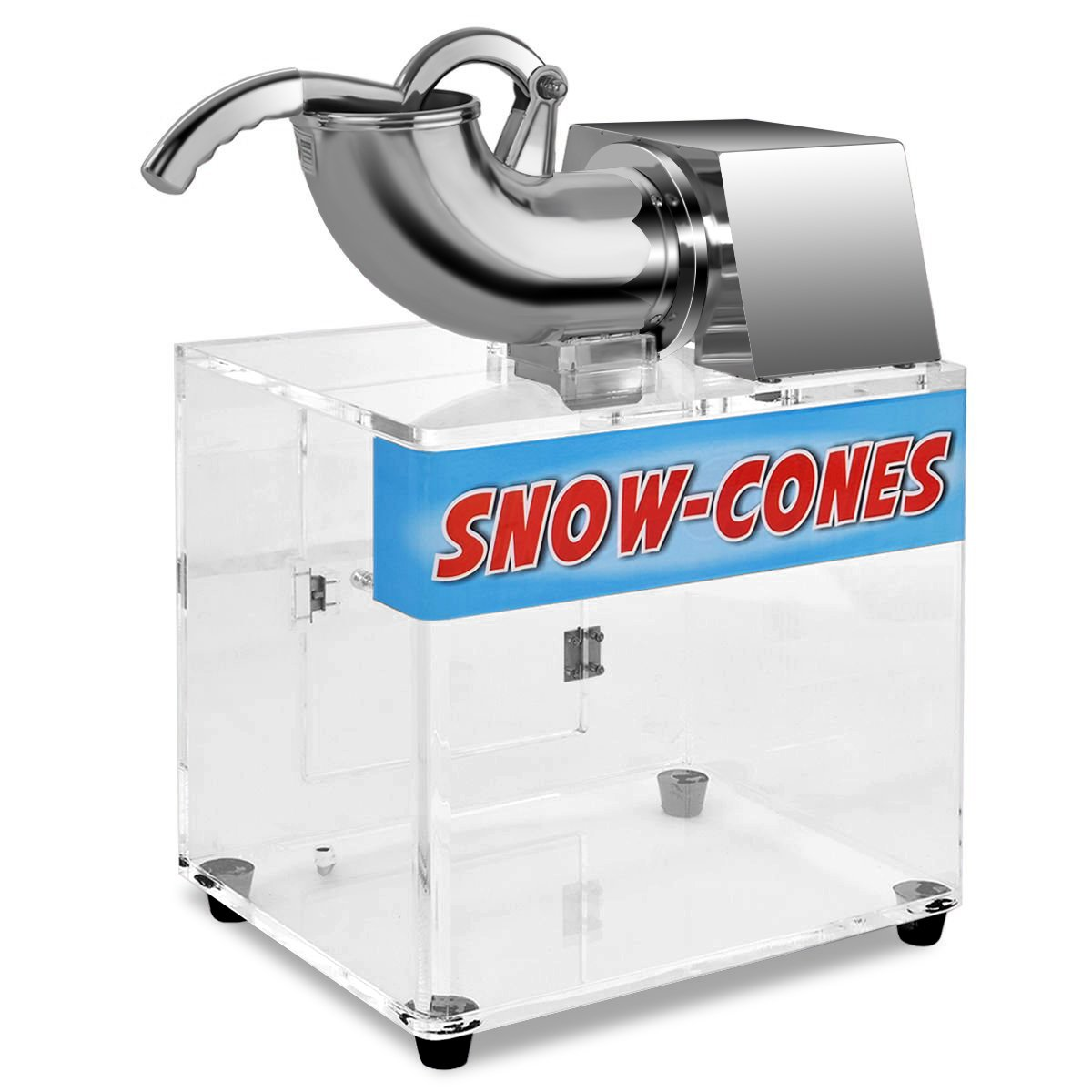 Costzon Ice Shaver, Stainless Steel Electric Crusher, Snow Cone Machine w/Dual Blades, Safety On/Off Switch for Family, School, Church, Kids Camp, Restaurants, Bars Or Commercial Use, 440lbs/H by Costzon