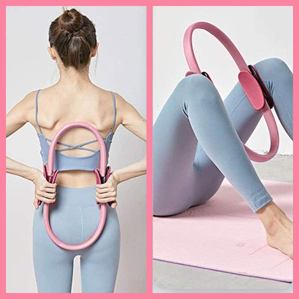 Pilates Resistance Rings for Thighs Magic Circle with Rubber Handles Abs /& Legs Yoga Fitness Circle Pilates Ring