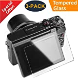 CAVN 3 Packs Glass Screen Protector for Canon G7X Mark II G9X Mark II G9X G7X G5X, Anti-scratch Waterproof HD-Clear 9H Tempered Glass Screen Protector for G9X Mark II G7X G7XII G5X DSLR Camera