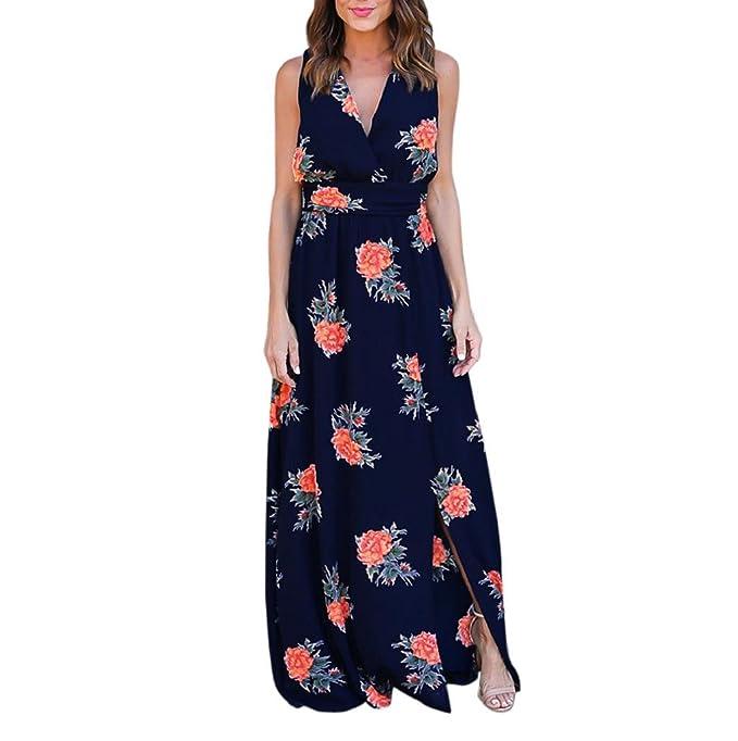 21c232cad Sannysis Falda Mujer Vestidos Largos de Verano para Bodas: Amazon.es ...